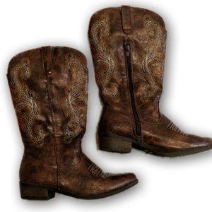 Steve Madden Kids 4 womens 7 cowboy boots